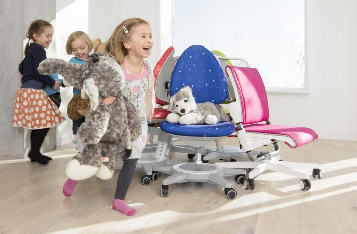 Kinderdrehstühle, Drehstühle von moll kids, Maximo und Scooter